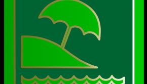 icone verte symbolisant la plage