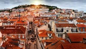 Lisbonne au lever du soleil