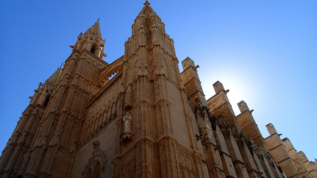 La cathédrale de Palma de Majorque, Espagne